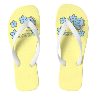 Save the Planet Earth Day Globe Flip Flops