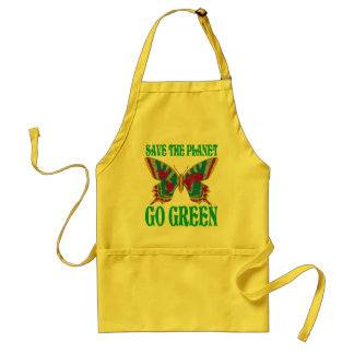 Save The Planet Go Green Standard Apron