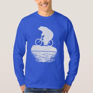Save the Planet: Polar Bear Bicycle Men's T-shirt