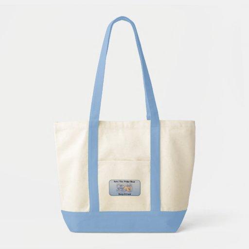 Save the polar Bear Canvas Bag
