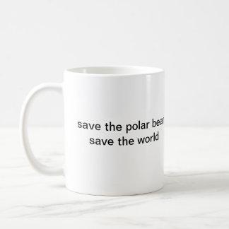 SAVE THE POLAR BEAR CLASSIC WHITE COFFEE MUG