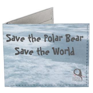 Save the Polar Bear Save the World Tyvek® Billfold Wallet