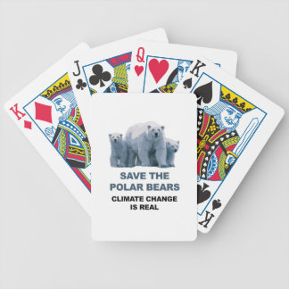 Save the Polar Bears Bicycle Playing Cards