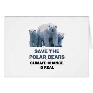 Save the Polar Bears Card
