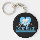 Save the Polar Bears Keychain