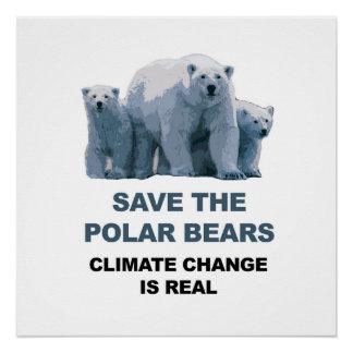 Save the Polar Bears! Perfect Poster