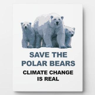Save the Polar Bears Plaque