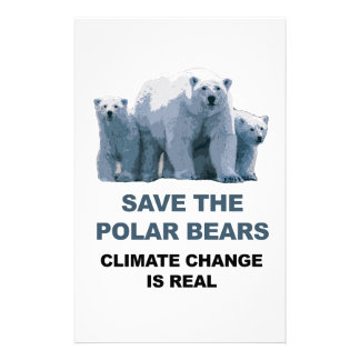 Save the Polar Bears Stationery
