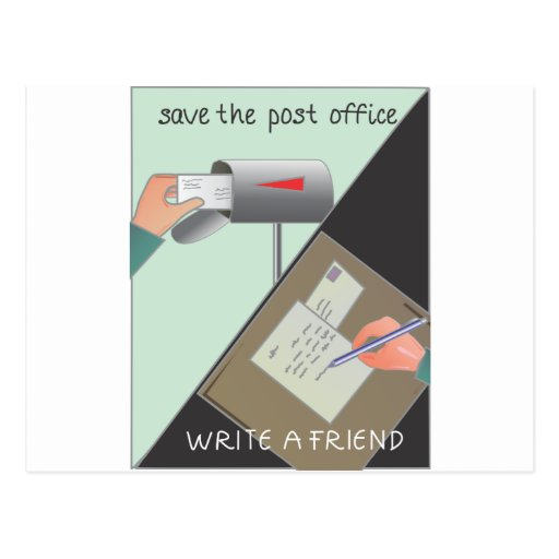 Save the Post Office/ Write a Friend Postcards