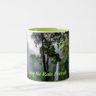 Save the Rain Forrest Ringer Mug