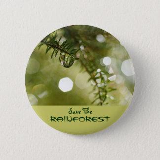 Save the Rainforest 2 Inch Round Button