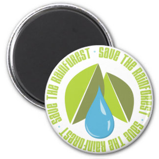 Save the Rainforest Earth Day Tees and Gifts 2 Inch Round Magnet