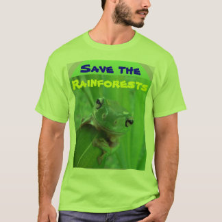 save the rainforests mens shirt