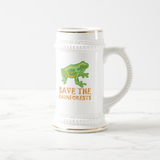 save-the-rainforests Tree Frog Beer Stein