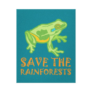 save-the-rainforests Tree Frog Canvas Print