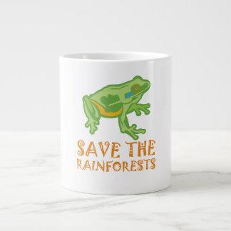 save-the-rainforests Tree Frog Large Coffee Mug