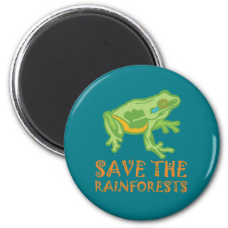 save-the-rainforests Tree Frog Magnet