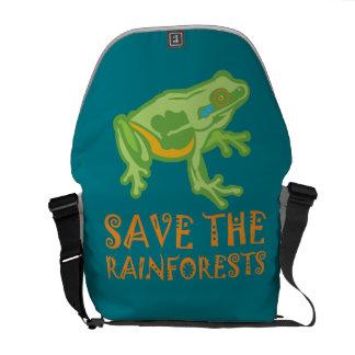 save-the-rainforests Tree Frog Messenger Bag