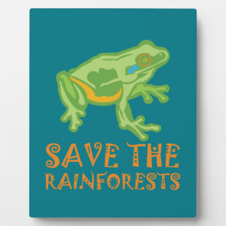 save-the-rainforests Tree Frog Plaque