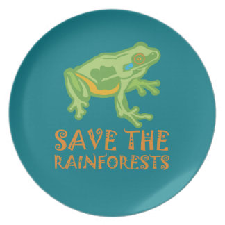 save-the-rainforests Tree Frog Plate