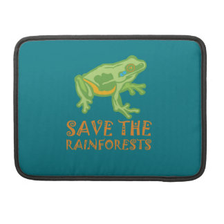 save-the-rainforests Tree Frog Sleeve For MacBook Pro