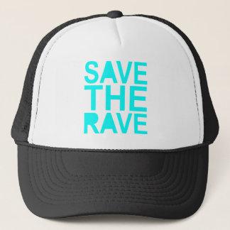 Save the rave blue NU Rave raver UK dance 80s Trucker Hat
