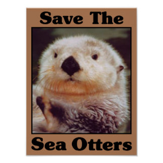 Save the Sea Otters Poster