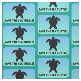 Save the Sea Turtle Fabric