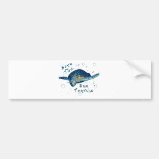 Save The Sea Turtles Bumper Sticker