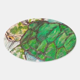 Save The Sea Turtle's Oval Sticker