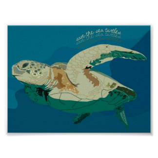 Save the Sea Turtles Print