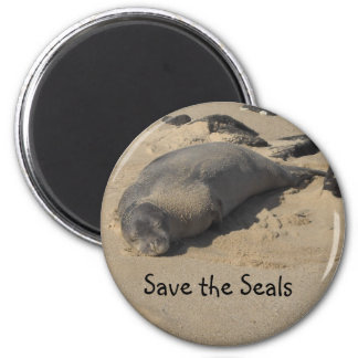 Save the Seals 2 Inch Round Magnet