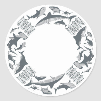 Save the Sharks Lifesaver Classic Round Sticker