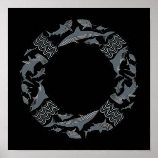Save the Sharks Lifesaver Poster