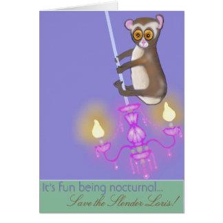 Save the Slender Loris Card