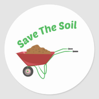 Save The Soil Round Sticker