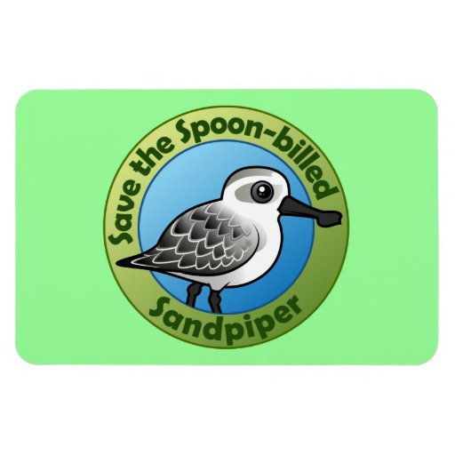 Save the Spoon-billed Sandpiper Rectangle Magnet