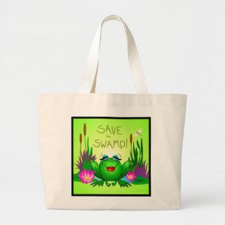 Save the Swamp Beulah Frog Wetland Conservation Jumbo Tote Bag