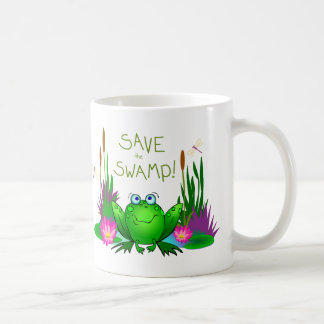 Save the Swamp Twitchy the Frog Coffee Mug