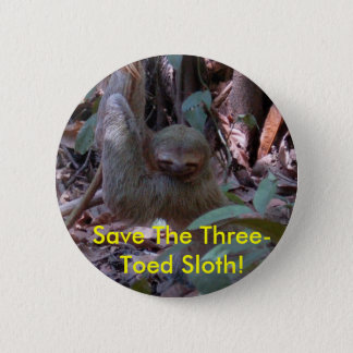 Save The Three-Toed Sloth! button