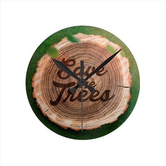 Save the trees Inspirational Design Clock