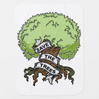 Save The Trees Swaddle Blankets