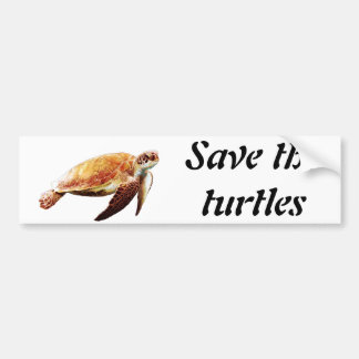 Save the turtles bumper sticker