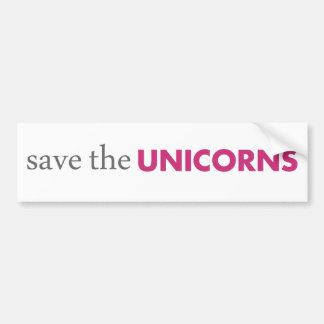 Save the Unicorns Bumper Sticker