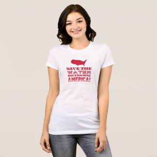 """Save the water..."" Red Type T-Shirt"