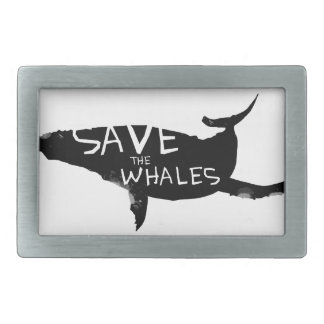 Save the Whales Belt Buckles