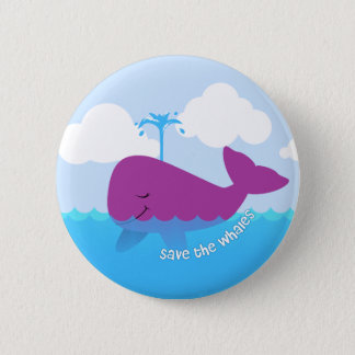 Save The Whales Cute Button