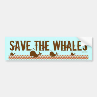 Save The Whales - Environmentally Conscious Bumper Sticker