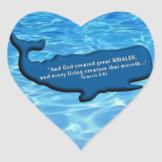 Save the Whales Merchandise 100% royalties Donated Heart Stickers