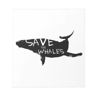 Save the Whales Notepad